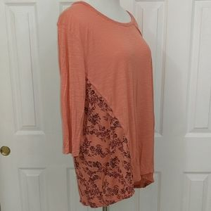 Natural Reflections orange blouse size 2x